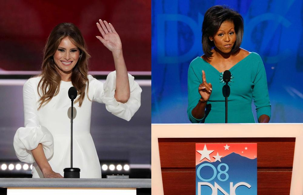 Melania Trump-Michelle-Obama