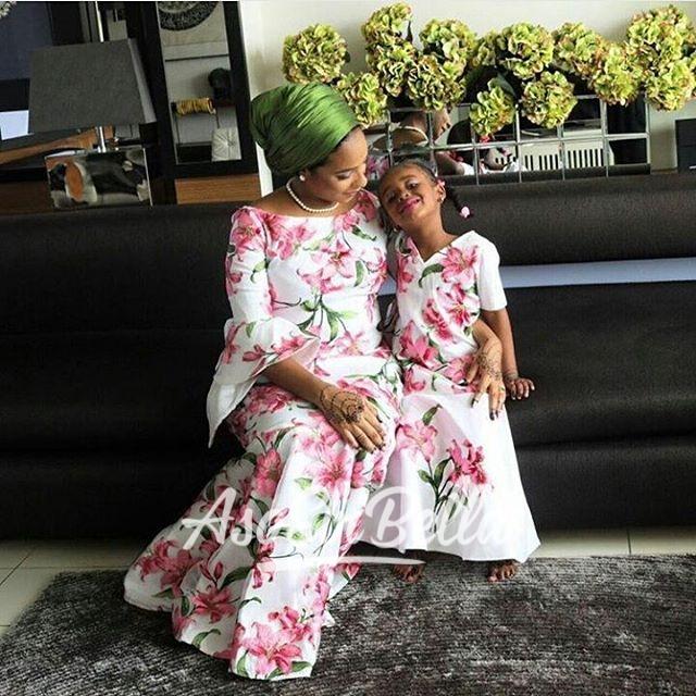Mother & Daugther in @rukeyserfabrics