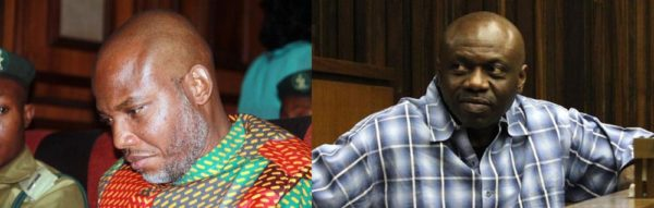 Nnamdi Kanu (L) and Henry Okah (R)