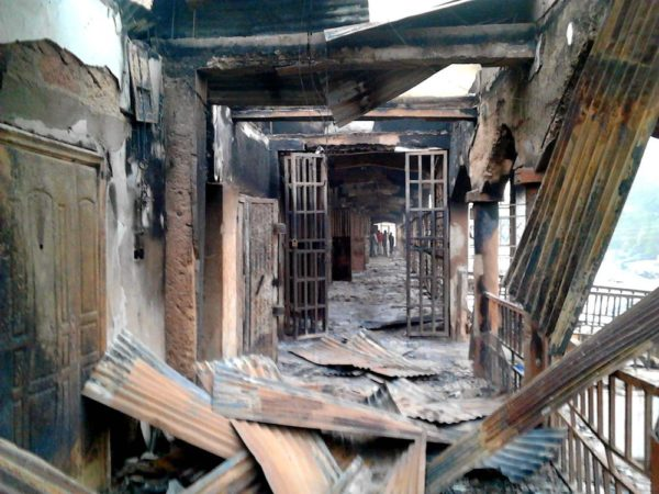 PIC. 3. PARTS OF THE TEXTILES SECTION OF THE OLD MARKET, WHICH WAS GUTTED BY FIRE IN SOKOTO ON SUNDAY NIGHT (24/7/16). 5295/25/7/2016/BRM/BJO/NAN