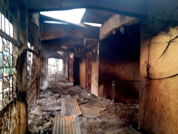 PIC. 4. PARTS OF THE TEXTILES SECTION OF THE OLD MARKET, WHICH WAS GUTTED BY FIRE IN SOKOTO ON SUNDAY NIGHT (24/7/16). 5296/25/7/2016/BRM/BJO/NAN