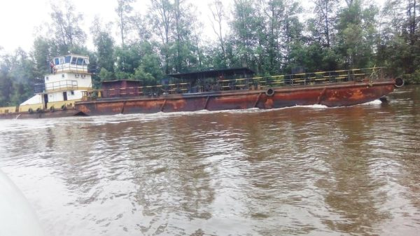 PIC. 7. A VESSEL LADEN WITH ABOUT 600,000 LITERS OF SUSPECTED ILLEGALLY REFINED DIESEL BY OIL THIEVES, WHICH WAS IMPOUNDED BY THE CENTRAL NAVAL COMMAND IN BAYELSA CREEKS ON SATURDAY (30/7/16).  5369/30/7/16/2016/NN/BJO/NAN