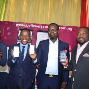 Co-Founders of the Believers Connect App: Chidi Okocha, Pastor Godman Akinlabi, Stephen with a PH and Lanre Akinbo