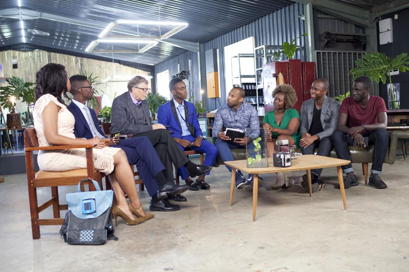 Panelists with Bill Gates