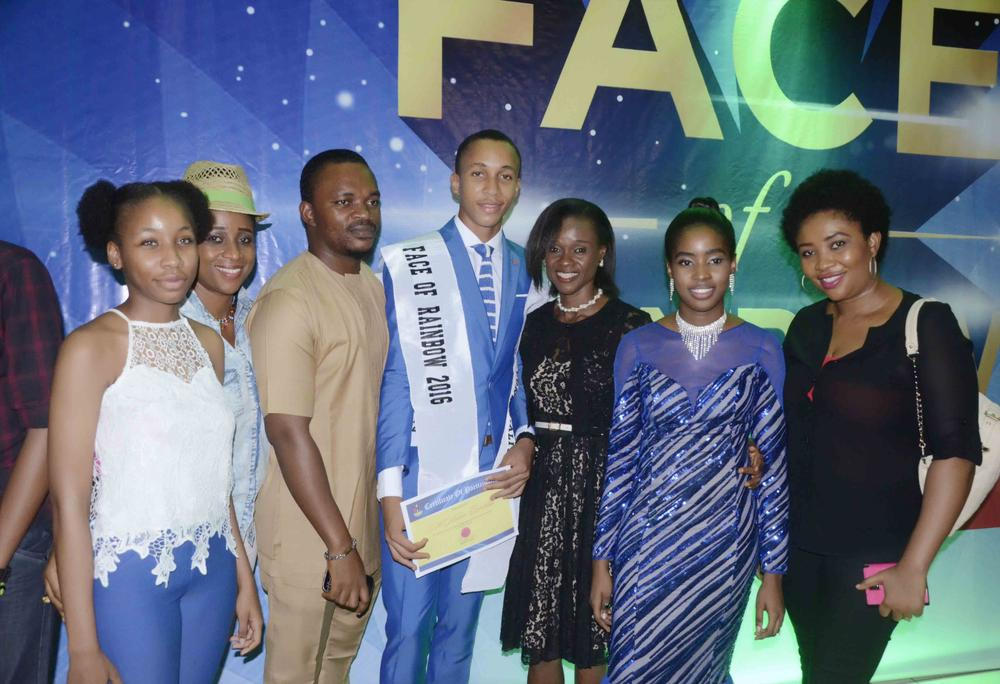 Parents and well wishers with the Winner