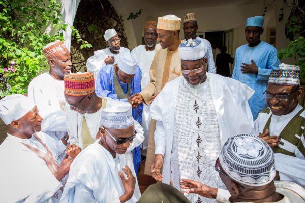 Preident Buhari With His Middle School Classmates2
