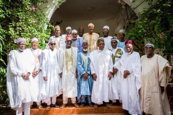 Preident Buhari With His Middle School Classmates3