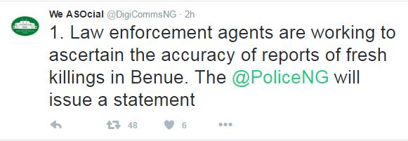 Presidency #BenueMassacre