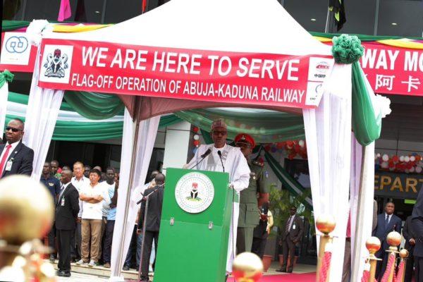 President Buhari Commissions Abuja-Kaduna Rail2