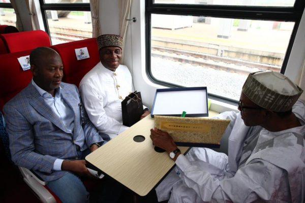 President Buhari Commissions Abuja-Kaduna Railway Track