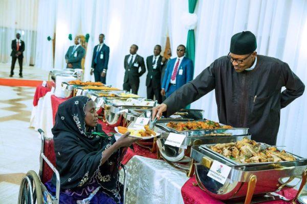 President Buhari Hosts IDPs1