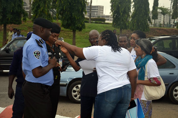 Protests against Dino Melaye in Abuja4