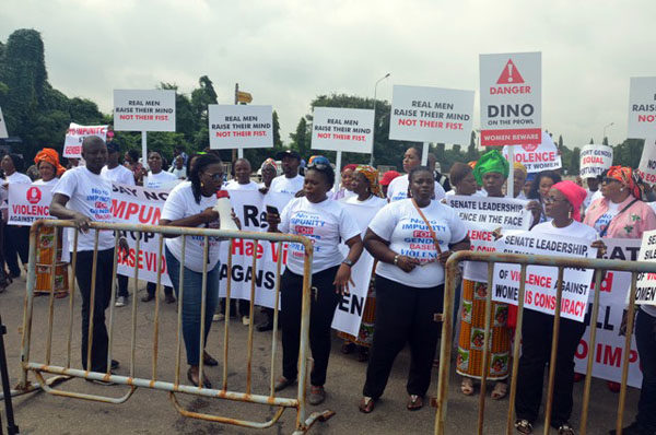 Protests against Dino Melaye in Abuja8