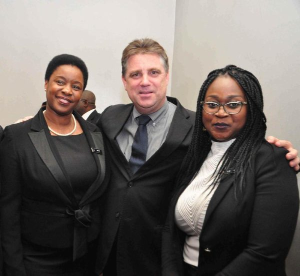 Sallie Khavere Manager; Mark Loxley General Manager & Ubong Nseobot Southern Sun Ikoyi