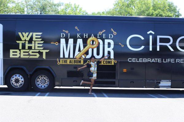 Spotted DJ Khaled's tour bus | Photo Credit: Kola Oshalusi