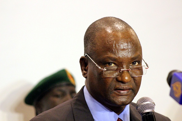 JUBA, SOUTH SUDAN - MARCH 21: South Sudan's SPLM-In-Opposition chief negotiator Taban Deng Gai delivers a speech during a press conference in Juba, South Sudan on March 21, 2016. (Photo by Samir Bol/Anadolu Agency/Getty Images)