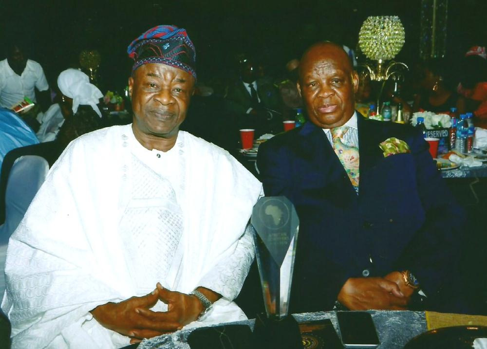 WALE ADENUGA MFR SEATED WITH LULU LOUIS MNGUNI, SOUTH AFRICA'S HIGH COMMISSIONER TO NIGERIA