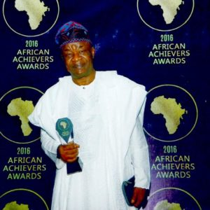 WALE ADENUGA MFR WITH HIS BEST AFRICAN TV PRODUCER  AWARD