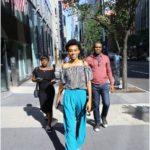 Walking out of the news building   Photo Credit: Kola Oshalusi