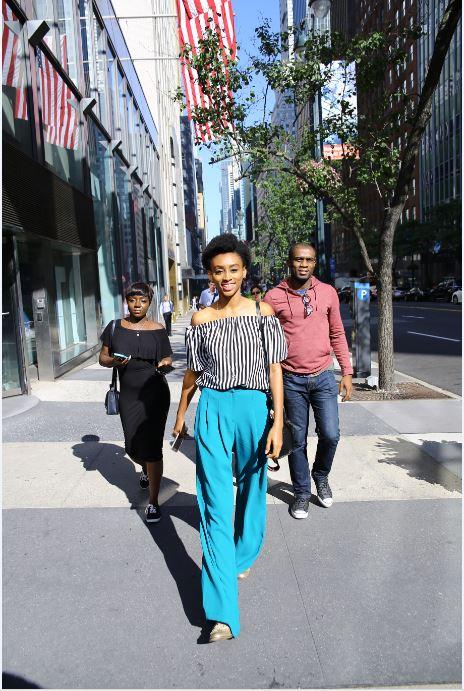 Walking out of the news building | Photo Credit: Kola Oshalusi