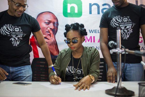 Yemi Alade Signing with Naira Box