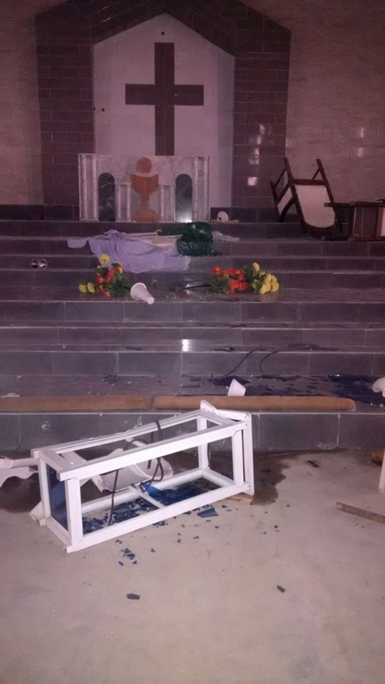 Youths Attack Catholic Church5