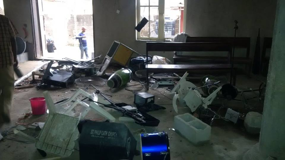 Youths Attack Catholic Church6