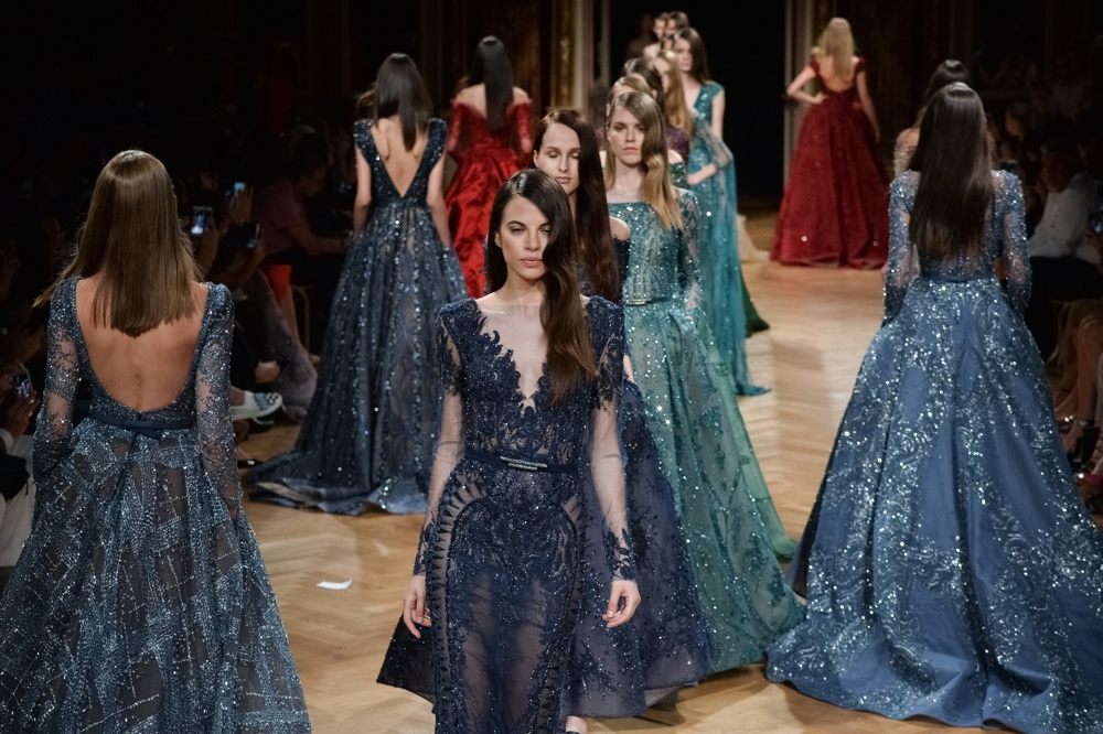 PARIS, FRANCE - JULY 06: Models walk the runway during the Ziad Nakad Haute Couture Fall/Winter 2016-2017 show as part of Paris Fashion Week on July 6, 2016 in Paris, France. (Photo by Francois Durand/Getty Images)
