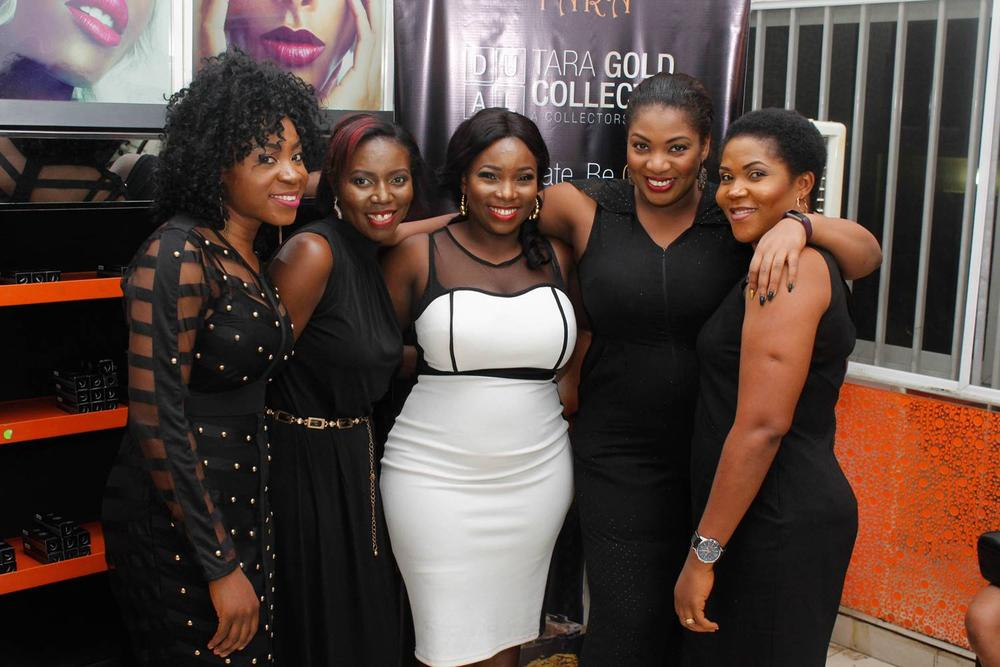 L – R Abiodun Anifowoshe (Regional Makeup Artist, SW), Yetunde Fatai (Executive Assistant to the CEO), Bukola Akinmboni (Marketing Manager), Ada Iwugo (Commercial Director), Felicia Okpala (Retail Operations Manager)