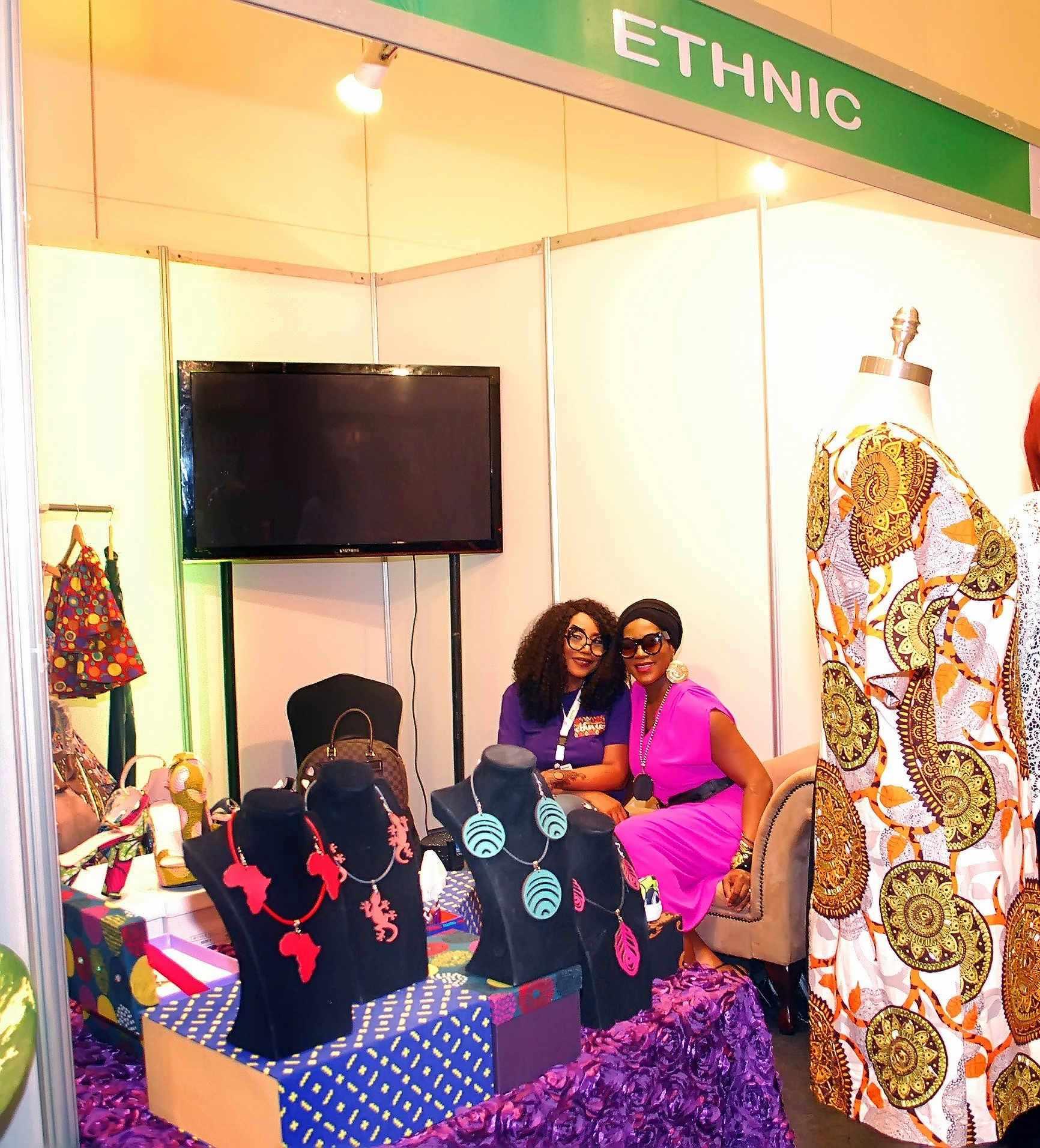 Creative director of Ethnic.ng, Cleopatra Robinson with Stephanie Okereke-Linus,