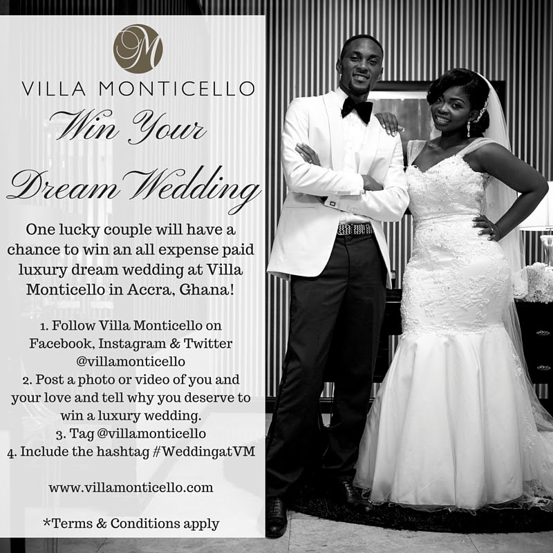 Villa Monticello Accra S Premiere Luxury Boutique Hotel Is Giving One Lucky The Chance To Win An All Expense Paid Dream Wedding For Up 50 Guests
