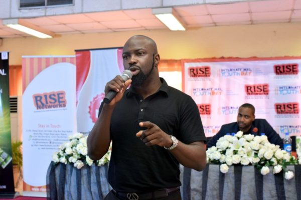 Audu Maikori, Lawyer and Music Mogul speaking on the need for Public-Private partnership in the entertainment sector at the #IYD2016NG event.