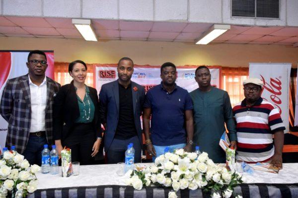 Group Photography; L-R: Oscar Gbemileke, Nkemdilim Begho, Okechukwu Ofili, Kunle Afolayan, Kunle Soriyan and Lanre Olu-Adeyemi.