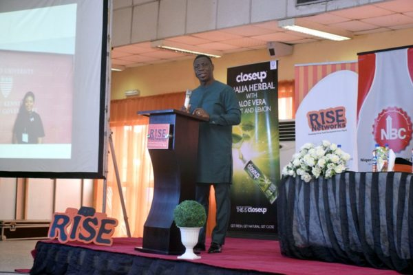 Kunle Soriyan, Founder Olakunle Soriyan Company delivering the opening remarks during the #IYD2016NG event.