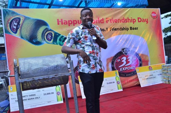 Comedian Bash rocks the 33 Friendship Party in Lagos