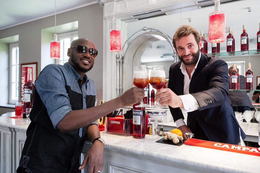 2Baba and Campari Masterclass trainer, Tommaso Cessa at the home of Campari