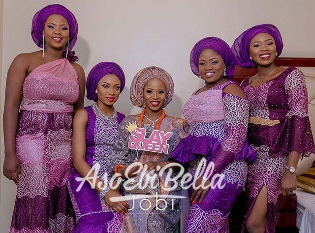 @laheires and her #AsoEbiBella_aso ebi, asoebi, asoebibella