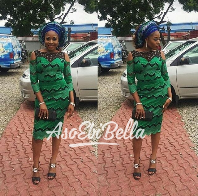 @msbukkyolofin Dress by @elanfashion_ng Fabric @deroyalglfabrics MUA @touchofglammakeover