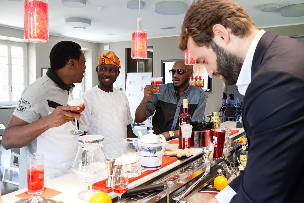 Abayomi Ajao, Ayeni Adekunle and 2Baba at Home of Campari Nigeria