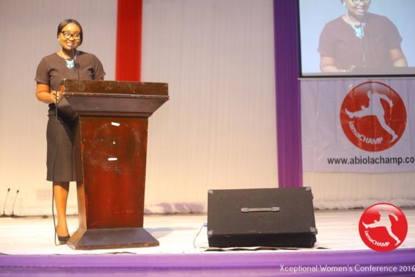 Adebola Deji-Kurunmi presentation a Paper @ The Xceptional Women's Conference