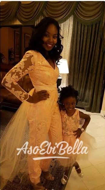 Adeola and daughter Adanna