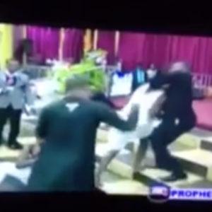 Bishop Daniel Obinim whips church members in Ghana