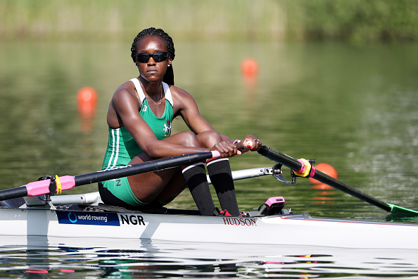 LUCERNE, SWITZERLAND - MAY 27: Chierika Ukogu of Nigeria competes in the Women's Single Sculls heats during day 1 of the 2016 World Rowing Cup II at Rotsee on May 27, 2016 in Lucerne, Switzerland. (Photo by Philipp Schmidli/Getty Images)