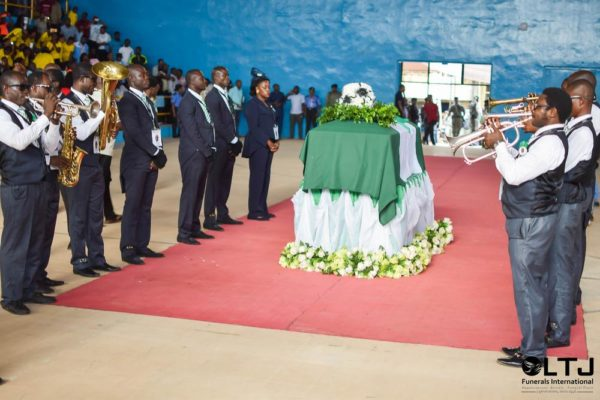 Day 1 viiii - Lying in state & tributes at Stephen Keshi Stadium