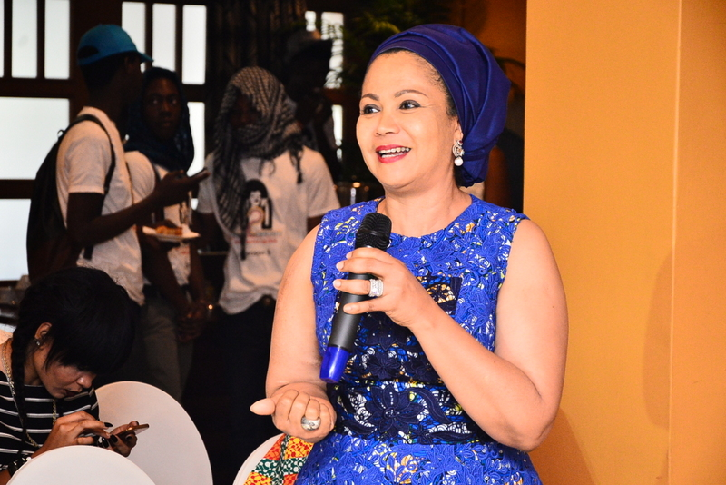 Founder of Ruff n Tumble, Adenike Ogunlesi speaking at the Dare2Dream Season 3 Press Conference