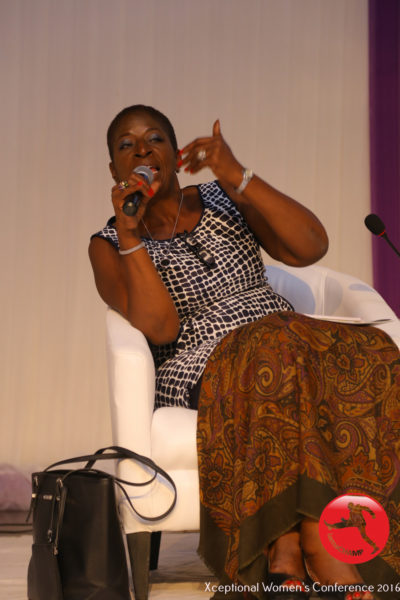 Funmi Ajose-Adeogun speaking at The Xceptional Women's Conference