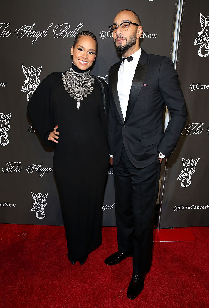 NEW YORK, NY - OCTOBER 20: Musicians Alicia Keys and Swizz Beatz attend Angel Ball 2014 at Cipriani Wall Street on October 20, 2014 in New York City. (Photo by J. Countess/Getty Images)