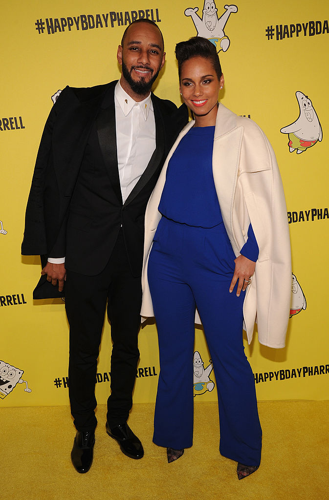 NEW YORK, NY - APRIL 04: Swizz Beatz and Alicia Keys attend the SpongeBob SquarePants themed, 41st birthday party for Pharrell Williams at Bikini Bottom at Cipriani Wall Street on April 4, 2014 in New York City. (Photo by Bryan Bedder/Getty Images for Nickelodeon)