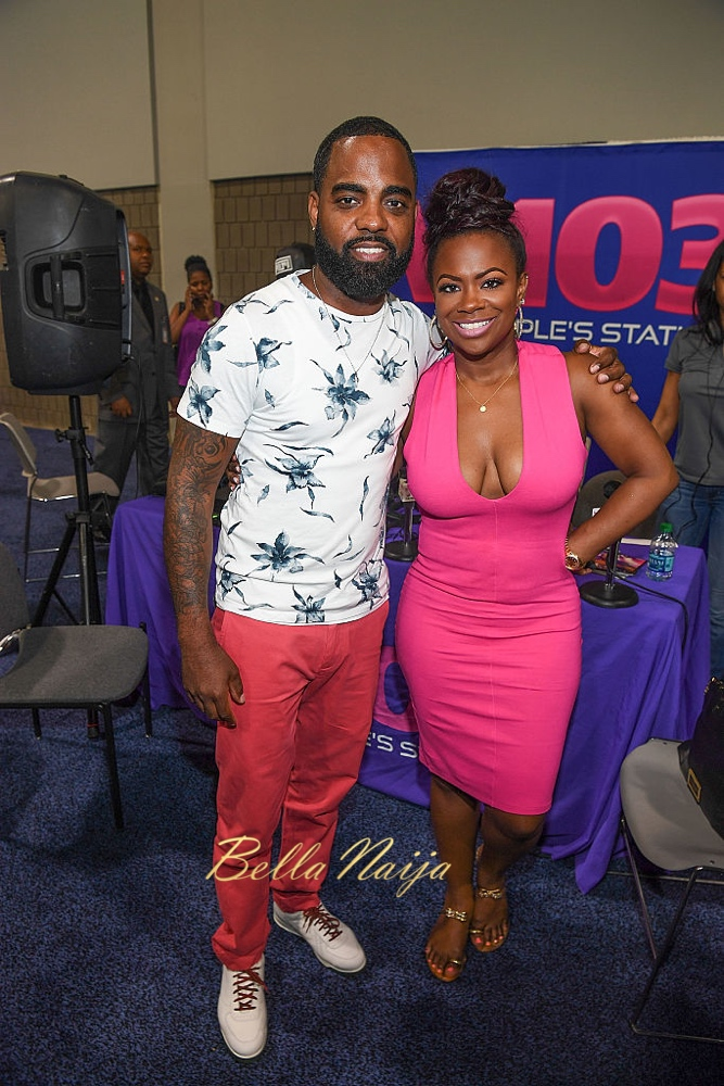 ATLANTA, GA - AUGUST 20: Todd Tucker and Kandi Burruss attends Bronner Brothers International Beauty Show at Georgia World Congress Center on August 20, 2016 in Atlanta, Georgia.  (Photo by Paras Griffin/Getty Images)