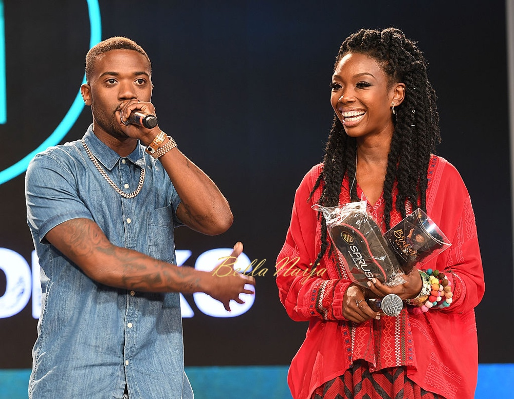 ATLANTA, GA - AUGUST 20:  Ray J and Brandy Norwood speak onstage at Bronner Brothers International Beauty Show at Georgia World Congress Center on August 20, 2016 in Atlanta, Georgia.  (Photo by Paras Griffin/Getty Images)